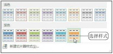 数据透视表怎么进行切片